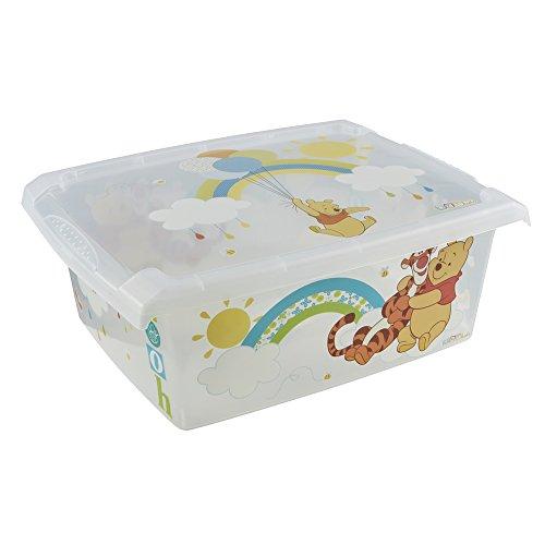 *keeeper Winnie Aufbewahrungsbox mit Deckel, 39 x 29 x 14 cm, 10 l, Filip, Transparent*