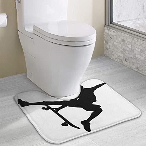 """xinchengyac Skateboarding Bathroom Rug, U-Shaped Bathroom Floor Rug Mat Bathroom Shower Rug (40"""" X 49"""")"""