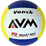 AVM Vansh PU Volley Ball (Yellow/Orange/Blue)