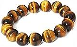 SAUBHAGYA GLOBAL Brown Non-Precious Metal Tiger Eye Stone Bracelet for Will Power