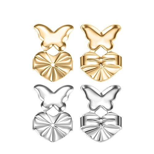 Einstellbare Post (Lavendei 2 Paar Ohrringheber Magic Earring Back Support Einstellbare Hypoallergene Ohrring Passend Alle Post Ohrringe (H05))