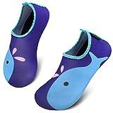 SAGUARO Escarpines Niño Niña para Buceo Snorkel Surf Natación Piscina Vela Mares Rocas Río Zapatos para Agua Bebe Calzado Playa Zapatillas Deportes Acuáticos(070 Multicolor, 28/29 EU)