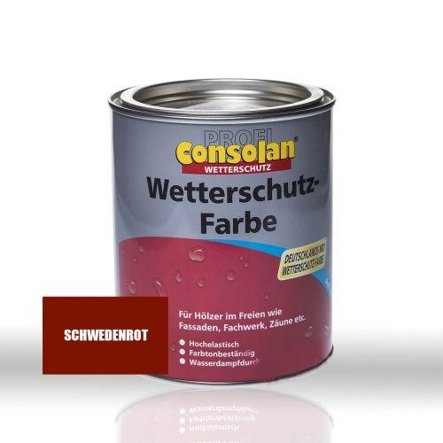 Consolan Wetterschutzfarbe schw-rot 2,5L schwedenrot 2,5 L