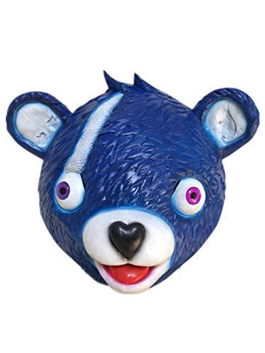 APJJ Bären Maske Niedliche Tiermaske Halloween Dekoration Party-Spiel Vorräte,Blue,L (Halloween-spiel Baby Blue)