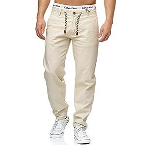 Indicode Herren Veneto Leinen-Hose Lange Hose Bequeme Stoffhose aus hochwertiger Leinenmischung