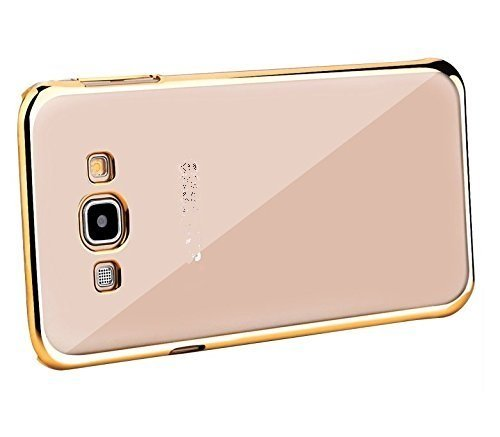 Meephone Electroplated Edge Ultra Thin TPU Flexible Back Case Cover For Samsung Galaxy Core 2 ( SM - G355H ) - GOLD