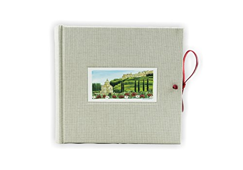 Grey Photo Album Bound in Canvas H20xL20 Tuscan Handcrafted Hand Made in Italy by Legatoria Toscana Home Collection