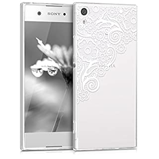 kwmobile Sony Xperia XA1 Hülle - Handyhülle für Sony Xperia XA1 - Handy Case in Weiß Transparent