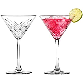 "6  Martini Glas ""Timeless"" im Kristall-Design Martini Cocktail Gläser Schale"