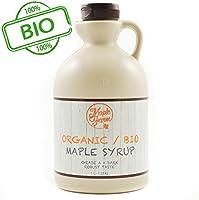 Puro sciroppo d'acero BIO Canadese Grado A (Dark, Robust taste) - 1 litro (1,35 Kg) - Organic maple syrup - Puro succo d'acero BIO