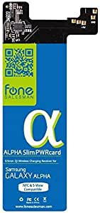 Alpha SlimPWRcard - 0.5mm Qi Receiver for Samsung Galaxy Alpha with integrated NFC coil