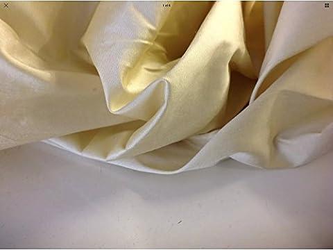 Beautiful Yellow Champagne Colour 100% silk Dupion Fabric 54