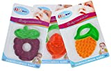 #9: Baby Grow Soft Fruit Shape Silicone Baby Teether 3 Piece Set (D-3)