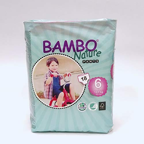 Abena Bambo Nature bébé Coque Saver Eco-training Pants, taille 6, Fibres contrôle du