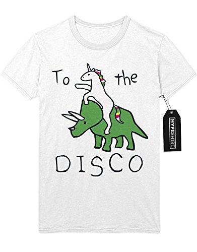 "T-Shirt ""UNICORN TO THE DISCO"" K123466 Weiß"
