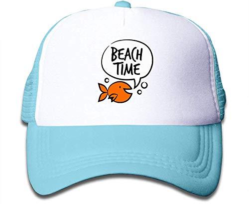 Voxpkrs Strand-Zeit auf Jungen- und Mädchen-Fernlastfahrer-Hut, Jugend-Kleinkind Baseballmütze Schönes 31885