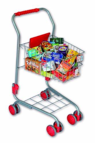 Preisvergleich Produktbild Tanner 1027.5 - Kinder Metalleinkaufswagen gefüllt mit circa 40 Artikel für den Kaufladen