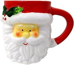 Idea Regalo - Tazze di Natale 3D, Gres, Babbo Natale o Pupazzo di Neve (Babbo Natale)