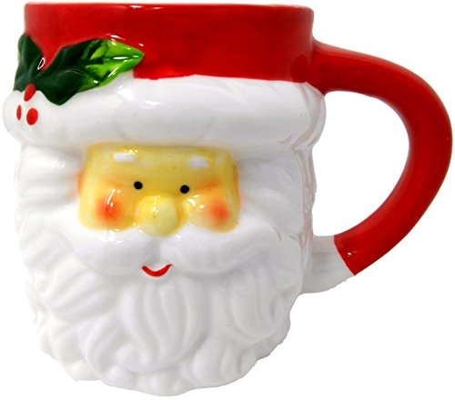 3D Weihnachten Becher, Steingut, Weihnachtsmann oder Schneemann - weihnachtsmann