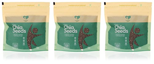 Nourish You Organic Black Chia Seeds, 450gm (Pack of 3x150gm)  available at amazon for Rs.700