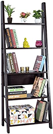 DeckUp Reno Ladder Book Shelf/Display Unit (Dark Wenge, Mat