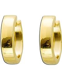 Echt Gold 333 Gelbgold Frauen Scharnier Creolen Ohrringe geflochten matt poliert