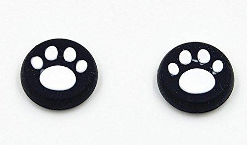 4PCS presa thumb pollice stick analogici cover di protezione anti-attrito bastone silicone caps per PS2, PS3, PS4, Xbox 360, Xbox One, Wii U controller (Bianco 4PCS) - Mod Ps2 Slim