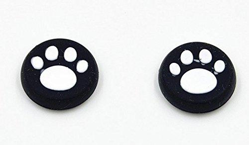 Stillshine pulgar agarre palo thumb grip silicona caps para PS2, PS3, PS4, Xbox 360, Xbox One, Wii U Mando (4PCS blanco felino)