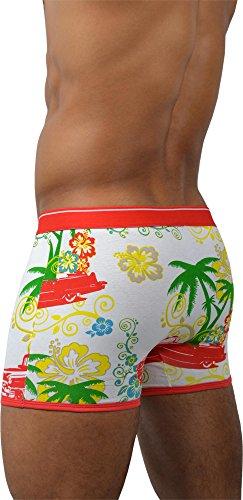 6 x normani® Herren Boxershorts aus Baumwolle mit Elasthan Hawaiian