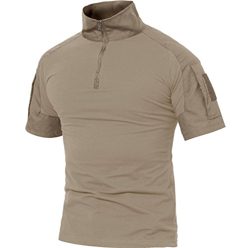MAGCOMSEN Militär t-Shirts für Männer Draussen Durable Angeln Arbeiten Top Tees Arbeitskleidung Khaki XL