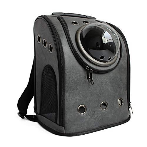 IW.HLMF PET Carrier Rucksack Case Space Capsule Dog Cat Small Animals Travel Bag-Dark Grey