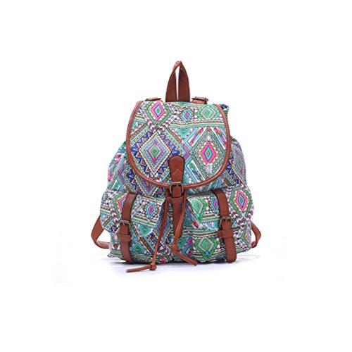 winomo Mädchen Damen Canvas-Rucksack Rucksack Schultasche Lässiger Tagesrucksack
