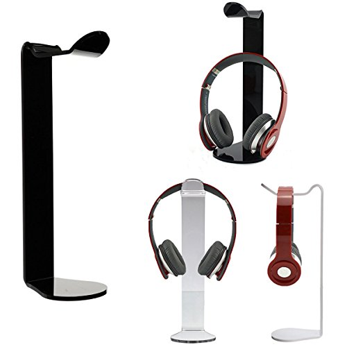 ELEGIANT schwarz Universelle Acrylic Kopfhörer Headset Halterung Halter Ständer Standplatz Aufhänger für alle Kopfhörer