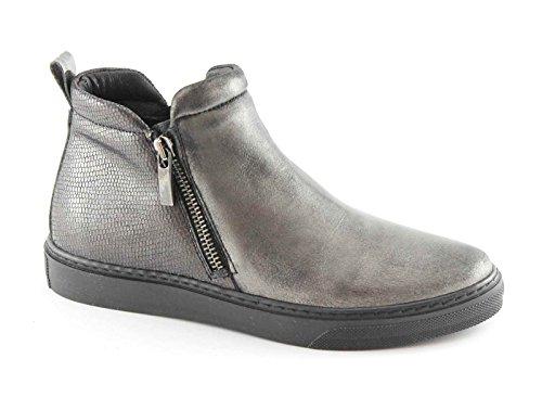 GRUNLAND PUNT PO0869 antracite scarpe donna mid cerniera elastico platform 38