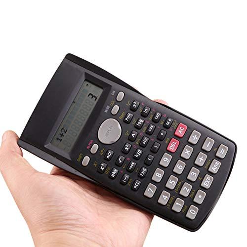 Technischer wissenschaftlicher Taschenrechner, Studenten Mathematik Taschenrechner Schreibwaren Multifunktional Taschenrechner für Büro und Schule Free Size Schwarz