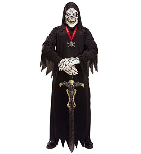 Skull Kostüm Reaper - Sensemann Skull Fürst Kostüm Umhang Maske Grim Reaper Gr. M - L