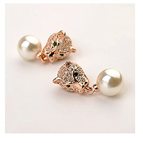 La Vivacita leopard Desire Earrings with swarovski crystal 18ct rose gold plated gift for women and girls