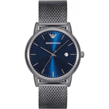 Emporio Armani Herren-Armbanduhr Analog Quarz One Size, blau, grau/blau