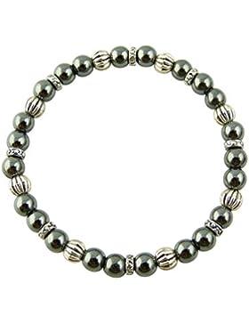 Sunsara Traumsteinshop Edelstein Sternzeichen Armband - Skorpion - Hämatit - mit silberfarbenen Tibet Perlen,...