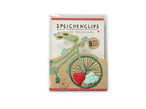 Preisvergleich Produktbild Spiegelburg 12780 Speichenclips I Love my Bike (8 Stück sortiert)