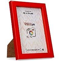 DECOPIC Marco de Fotos Color Rojo para fotografía de 15x20 cm