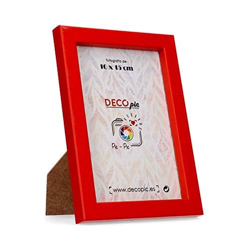 DECOPIC Marco Fotos Color Rojo fotografía 15x20 cm