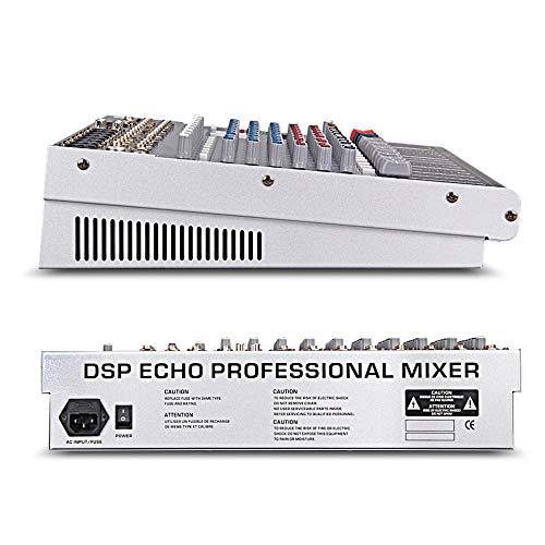 USB DJ-Mixer Professioneller Power Mixer 6/8/12 Kanal Stage Sound Engineer Vorverstärker 7-Band-Equalizer 16 Arten von DSP-Preset-Effekten Konferenzmixer anzeigen zur Aufnahme von DJ Stage Karaoke Mus