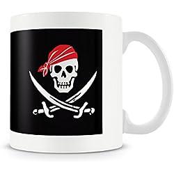 Motivo pirata cráneo y tibias cruzadas