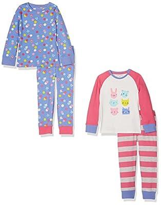 Mothercare Girls' Pyjama Top (Pack of 2)