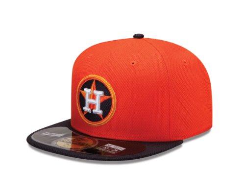 New era bonnet pour adulte casquette de baseball mLB houston astros era diamond 59 fifty fitted Orange - Orange/Black Houast