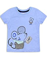 The Essential One - Baby Kids Boys - Map T-Shirt - 2-3 Years - Blue - EOT211