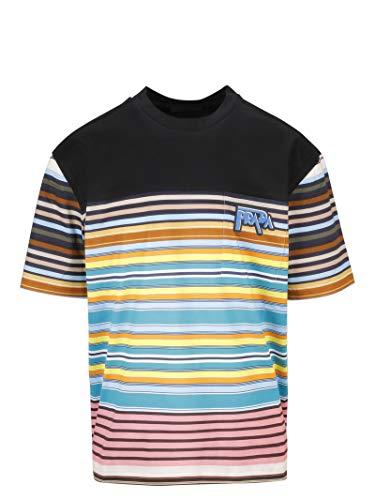 Prada Herren Ujn5531s6nf0u69 Multicolour Baumwolle T-Shirt