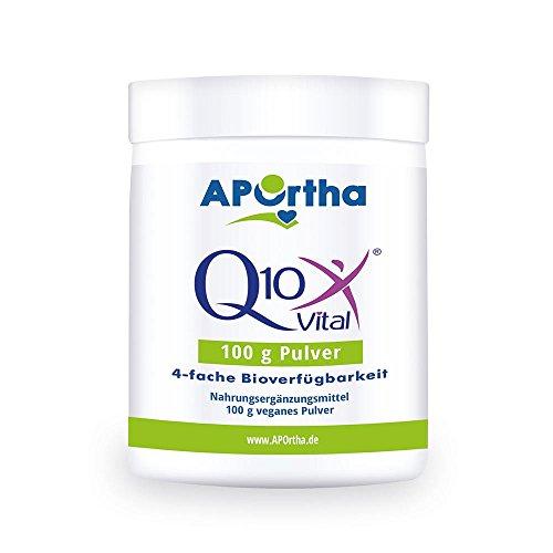 APOrtha Q10Vital® Coenzym Q10 - 100 g veganes Pulver - 4fache Bioverfügbarkeit - auch für Kosmetik geeignet