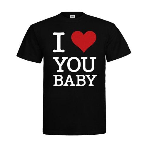 MDMA T-Shirt I Love You Baby mdma-t00160-8 Textil black / Motiv weiss Gr. (Online Design Studium Kostüm)